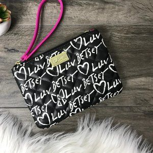 BETSEY JOHNSON LUV BETSEY Black White Pouch